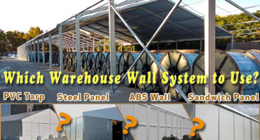 wall system - Sandwich-panel---trapezoidal-corrugate-steel-panel-wall---frame-tent-with-PVC-sidewall---industrial-warehouse-strucutres-for-sale